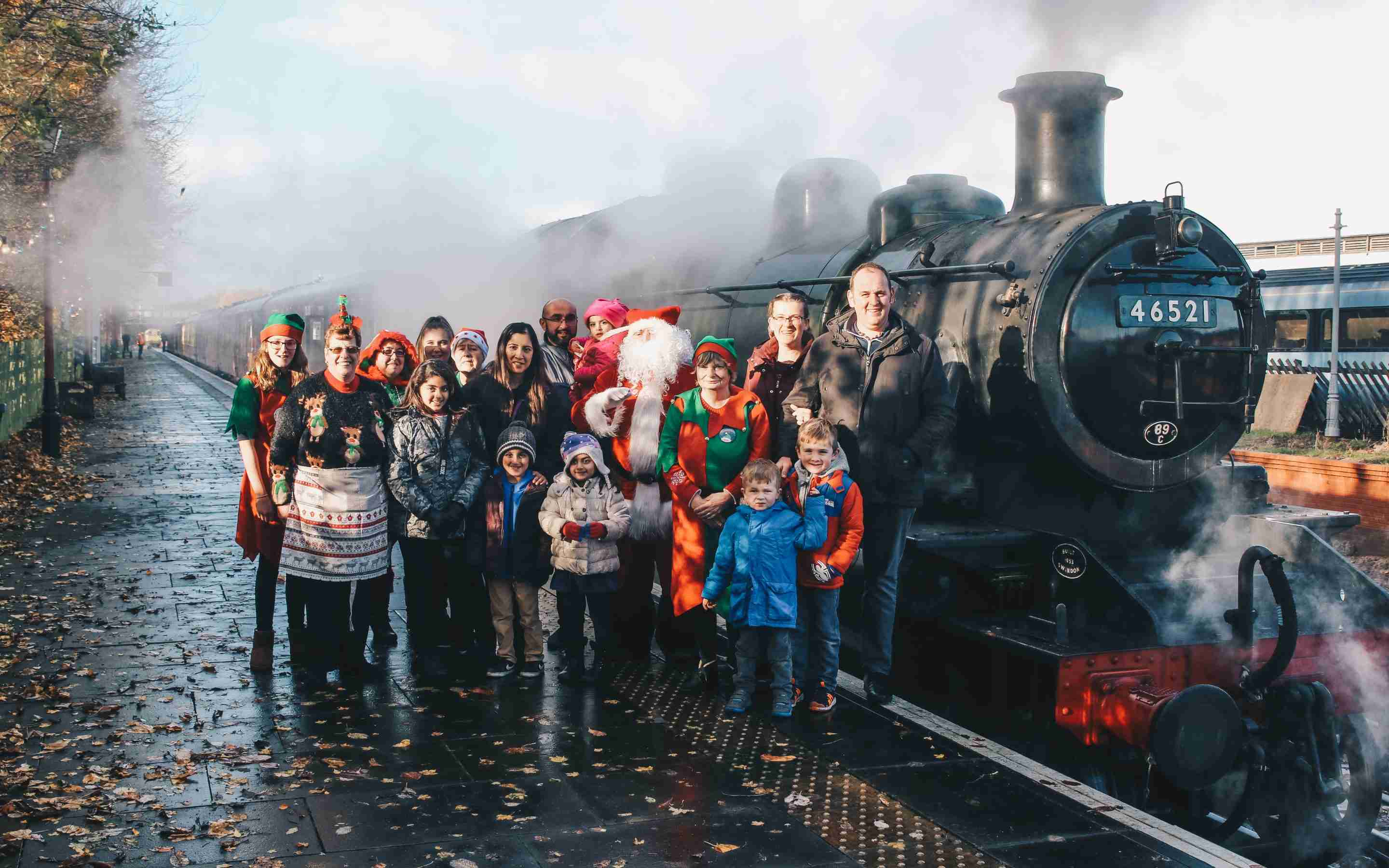 Santa Special Steam Train Trip for PASIC Families at Great Central Railway, Loughborough