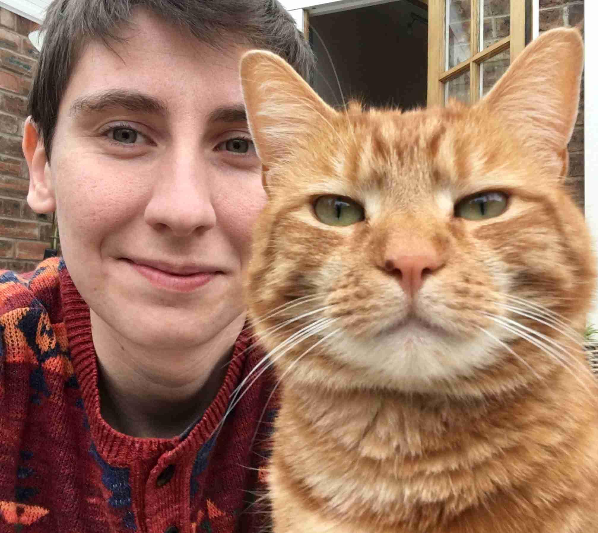 Harriet and her cat