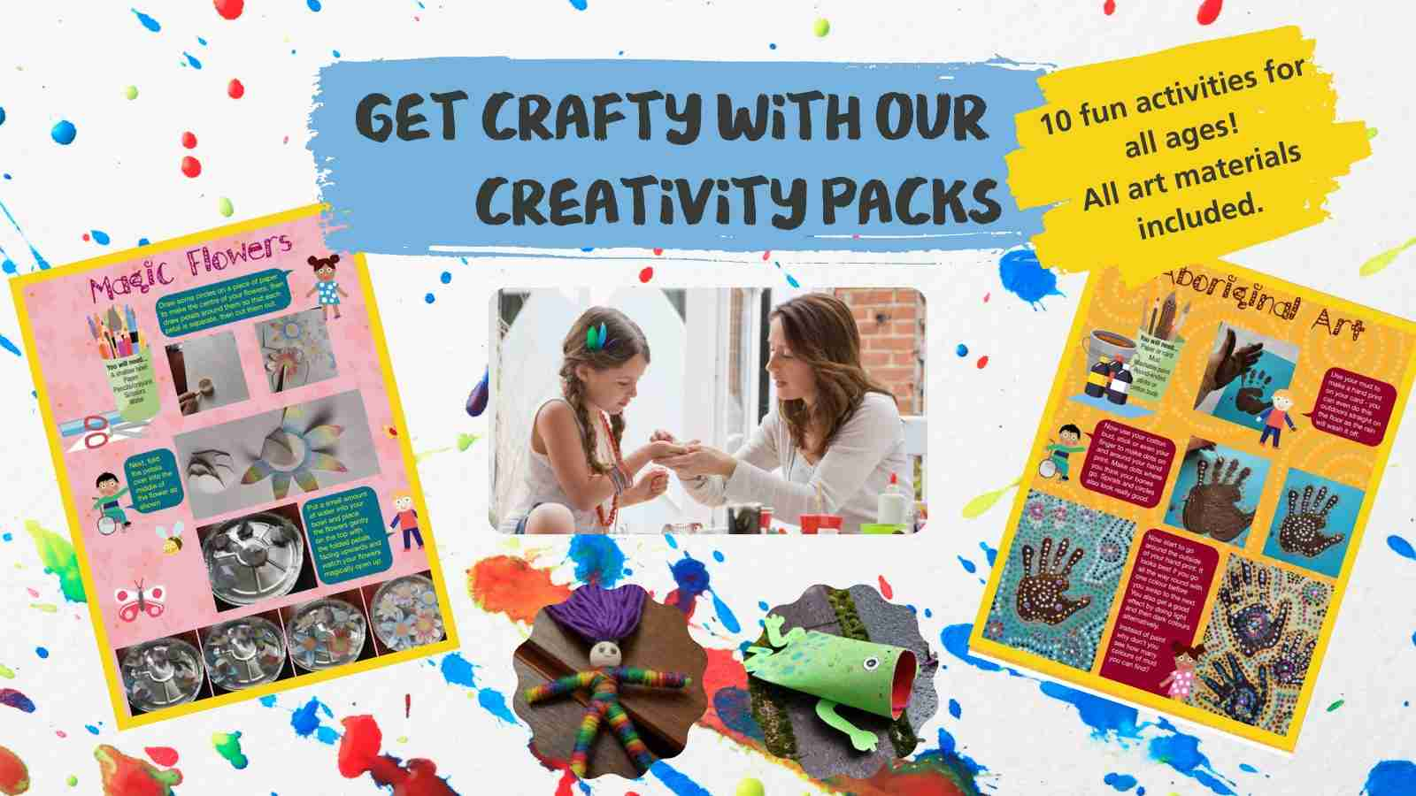 It's time to get crafty with our free creativity packs!