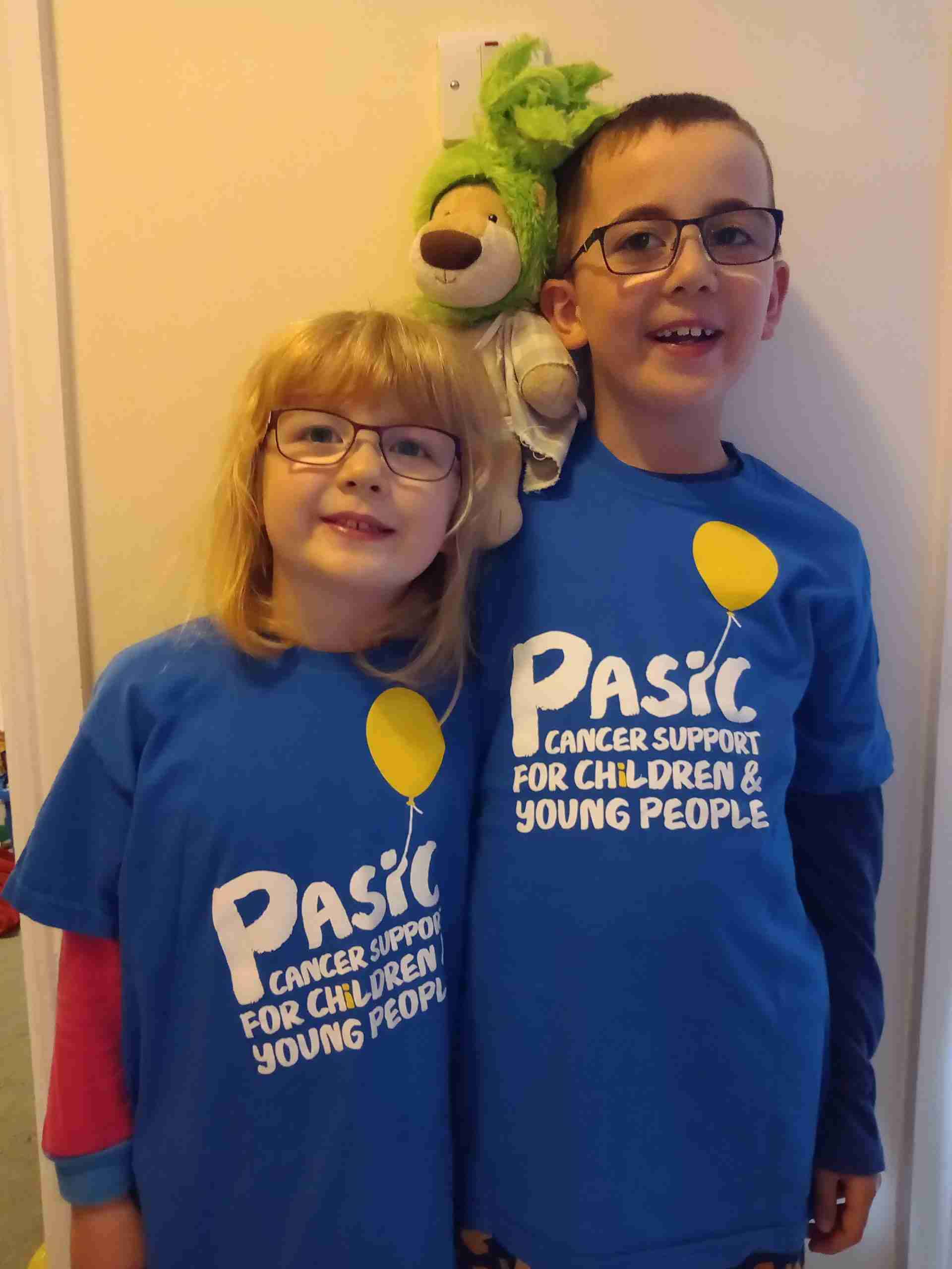 Evan and Emily in PASIC T-shirts