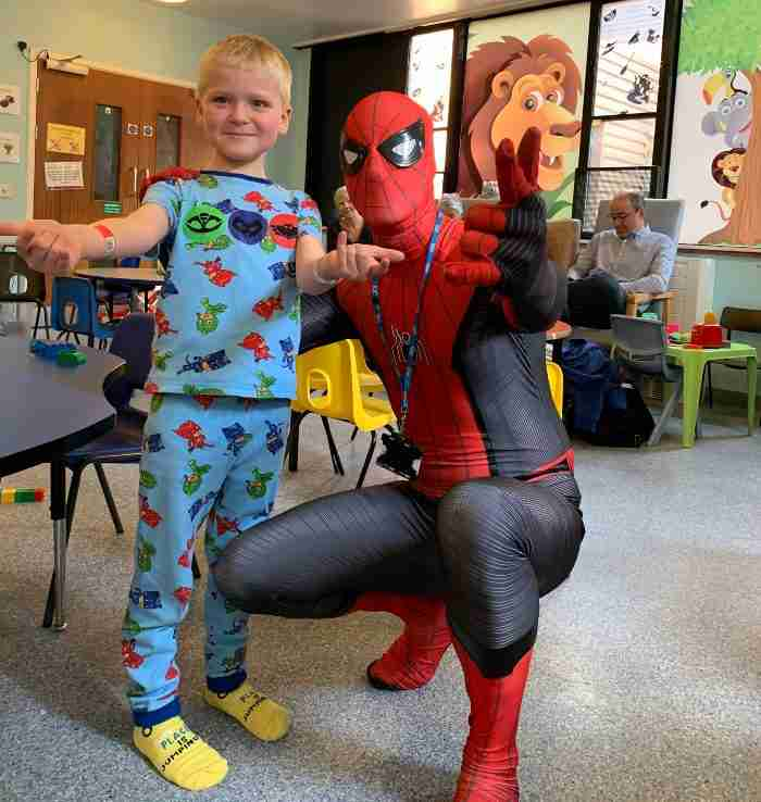 Dylan and spider man