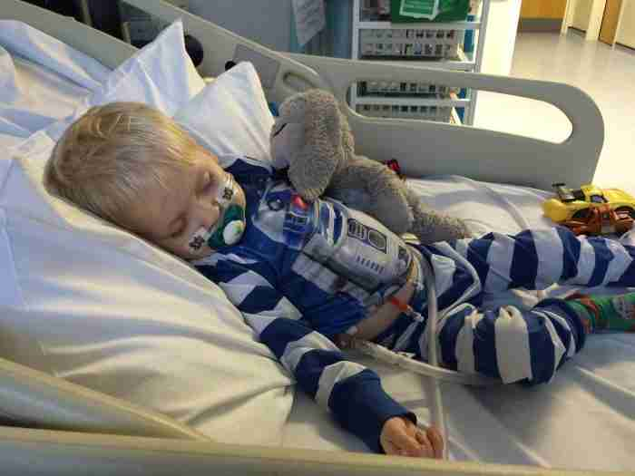 Dylan in hospital