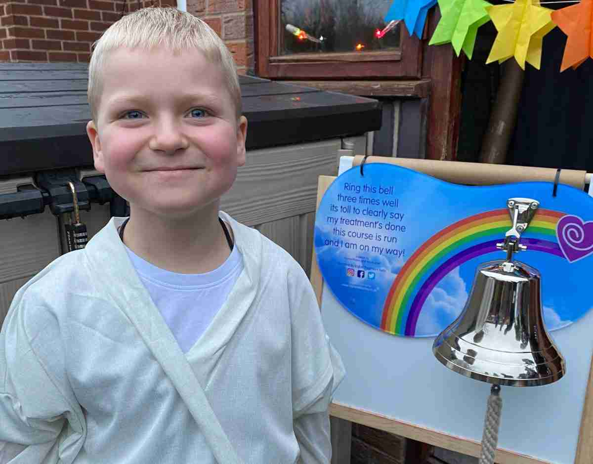 Dylan ringing the bell